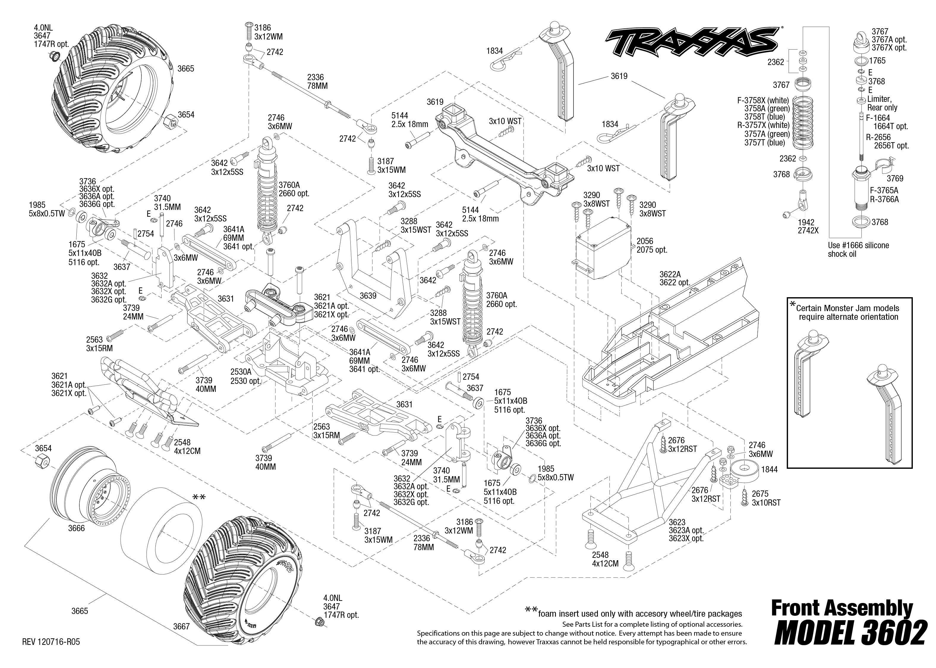 traxxas grave digger parts diagram