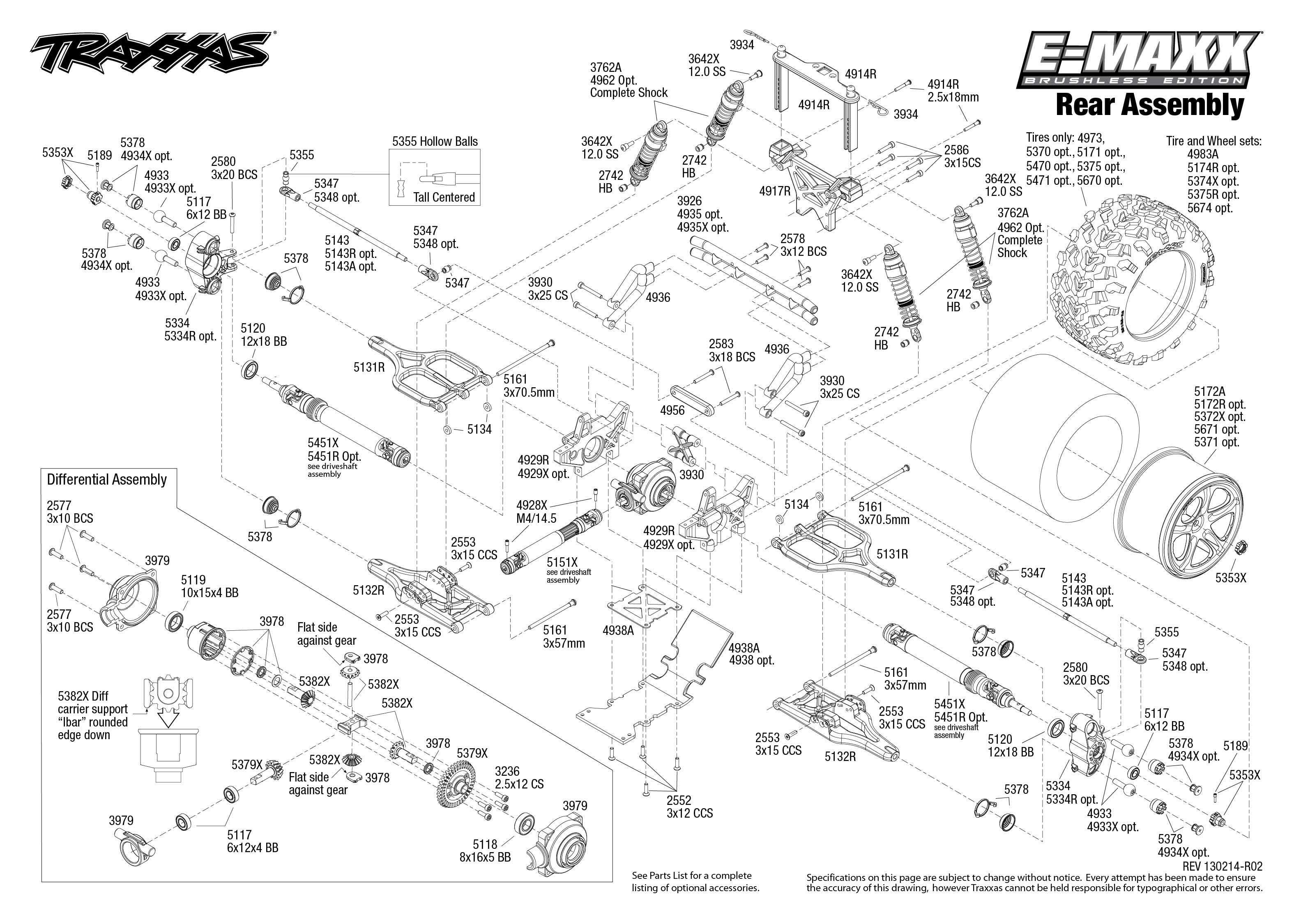 E Revo Brushless Parts Diagram Everything About Wiring Traxxas Stampede Vxl Achterkant 6708 Bouwtekening Maxx Trxxs List