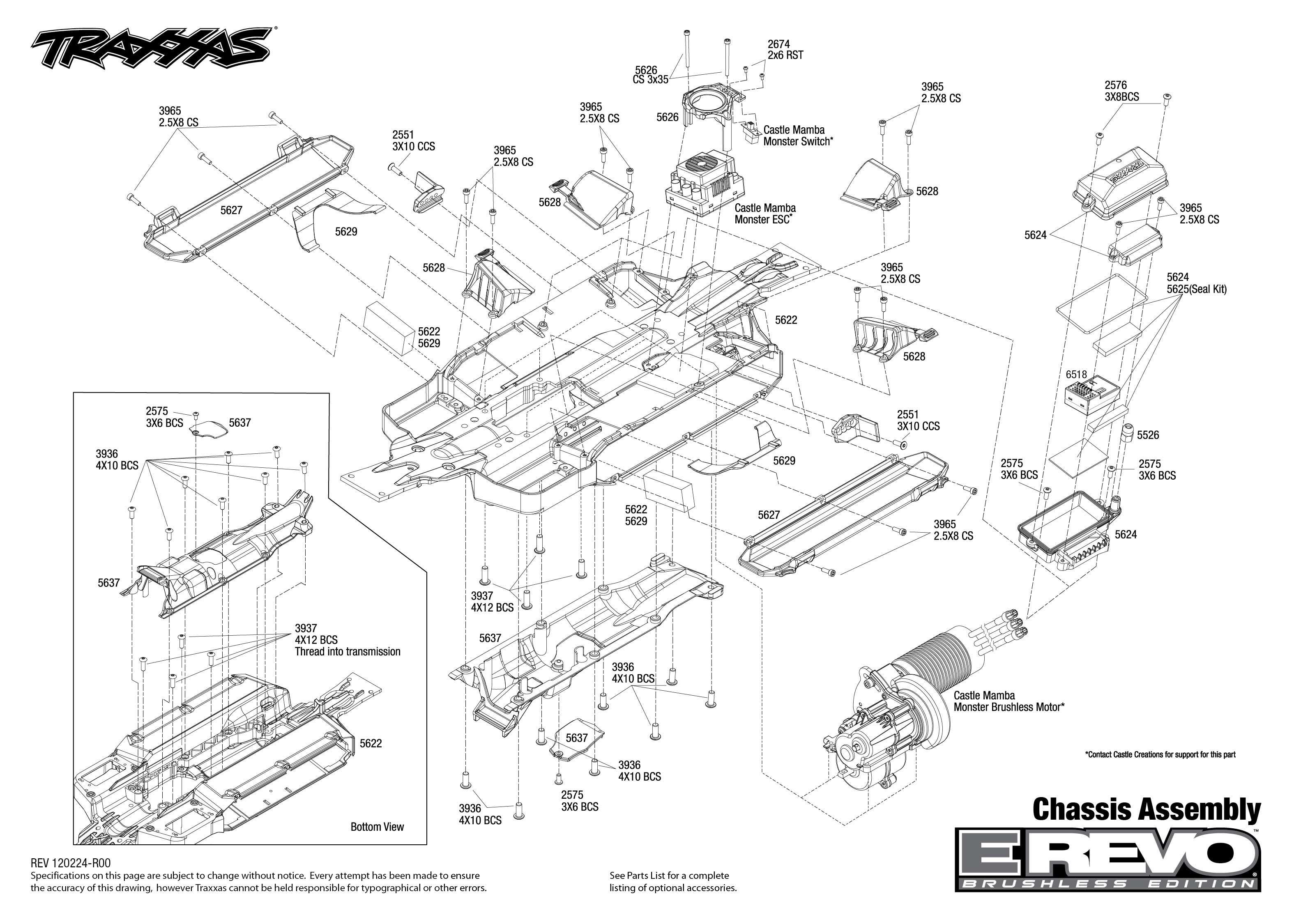 traxxas bouwtekening chassis e