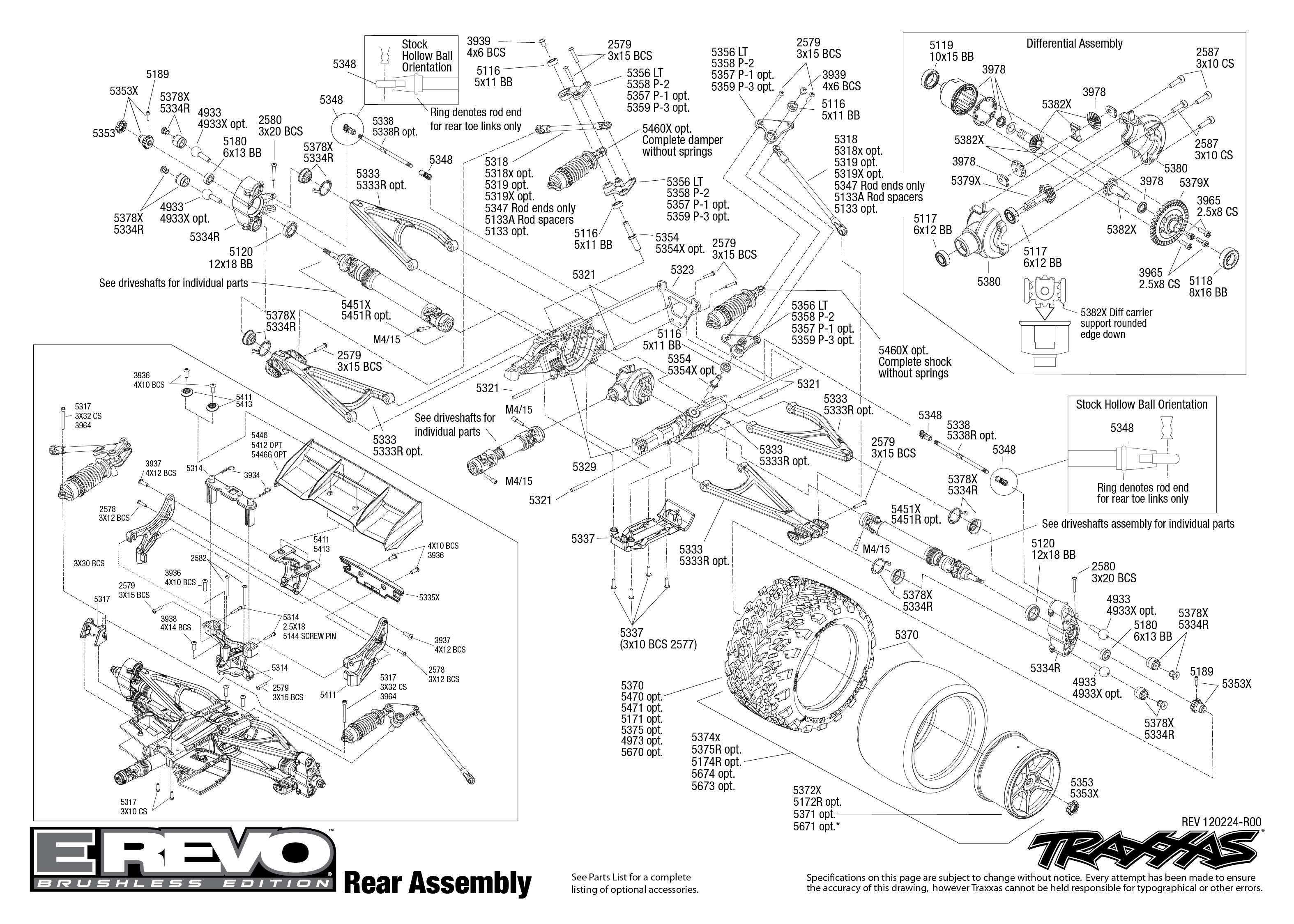 traxxas bouwtekening achterkant e-revo brushless | trxxs ... jato parts diagram ford f 150 parts diagram #11