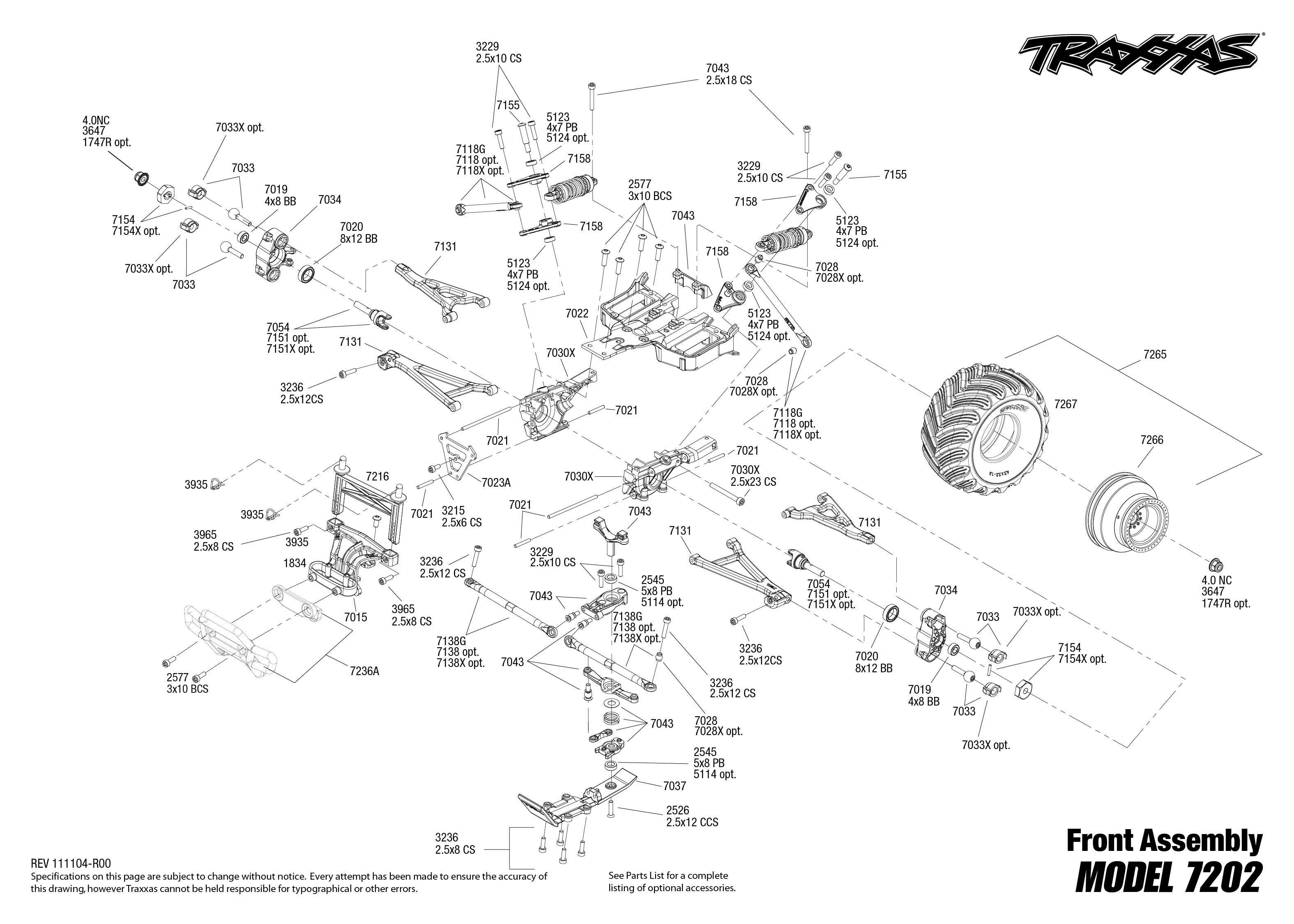 traxxas bouwtekening voorkant 1  16 grave digger