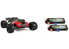 Arrma 1/8 KRATON 6S BLX 4WD Brushless Speed Monster Truck RTR, Rood (ARA106040T1) met Powerpack