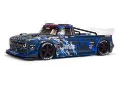 Arrma Infraction Street Bash 6S BLX 1 / 7TH Scale All-Road Resto-Mod Truck (handrem) (blauw)