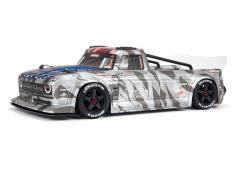 Arrma Infraction Street Bash 6S BLX 1 / 7TH Scale All-Road Resto-Mod Truck (handrem) (zilver)