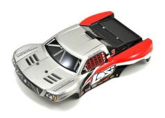 Losi 1/24 4WD Micro SCT Painted Body, Silver & Red LOSB1783