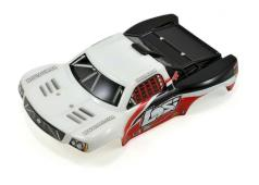 Losi 1/24 4WD Micro SCT Painted Body, White & Red LOSB1784