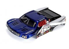 Losi 1/24 4WD SCT Painted Body, Blue/Silver LOSB1793