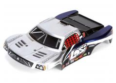 Losi 1/24 4WD SCT Painted Body, Silver/Blue LOSB1792