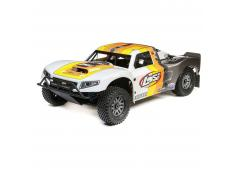 Losi 1/5 5IVE-T 2.0 4WD Short Course Truck Gas BND, Grijs/Oranje/Wit (LOS05014T2)