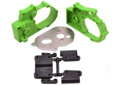 RPM73614 Green Gearbox Housing and Rear Mounts for Traxxas 2wd V