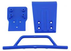 RPM80025 Blue Front Bumper & Skid Plate for the Traxxas Slash 4w