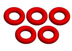 C-00180-188 O-Ring - Silicone - 4x8mm - 5 pcs