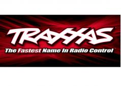 TRX-9909 Traxxas racing banner, red & black (3x7 feet)