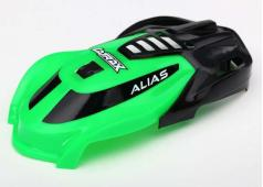 Traxxas TRX6614 Canopy, Alias, green/ 1.6x5mm BCS (self-tapping)