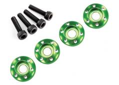 Traxxas TRX7668G Wheel nut washer, machined aluminum, green / 3x