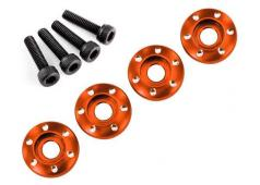 Traxxas TRX7668X Wheel nut washer, machined aluminum, orange / 3