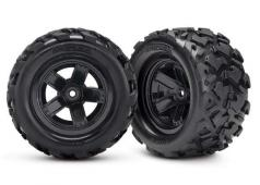 Traxxas TRX7672 Tires & wheels, assembled, glued (Teton 5-spoke