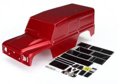 Traxxas TRX8011R Body, Land Rover Defender, Rood (geverfd) / plaatjes