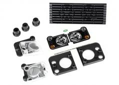 Traxxas TRX8013 Grill, Land Rover Defender / grill montage (3) / koplamp behuizing (2) / lens (2) / koplamp montage (2)