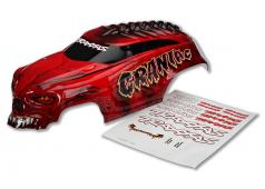 Traxxas TRX3634R Body, Craniac, rood, heavy duty / stickers