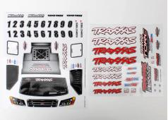 Traxxas TRX7013X Decal sheets, 1/16 Slash 4WD team truck