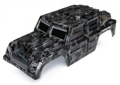 Traxxas TRX8211X Body, Tactical Unit (Transparant, Night Camouflage) / stickers
