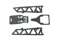 YEL12002 chassis side plates A + motor guard + servo cover