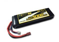 Yellow RC LiPo 5000mAh 11.1V 3S 35C met Deans Connector