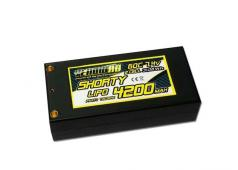 Yellow RC LiPo 60C 4200mAh 7.4 Shorty Hardcase 4mm + deans