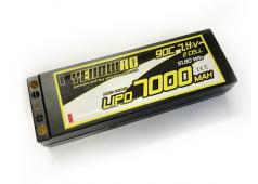 Yellow RC LiPo 7000mAh 7,4V 2S 90C w/5mmbullet 3in1 plug, incl Deans charge cable