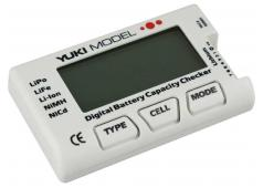 Yuki Digital Battery Capacity Checker - NiCd - NiMH - LiFE - LiP