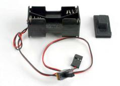 Traxxas TRX-1523 Battery holder with on/off switch/ rubber on/of