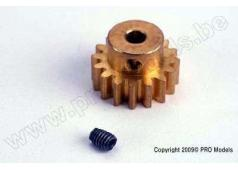 Traxxas TRX-1687 Gear, 16-T pinion (32-p)/ set screw (Brass)