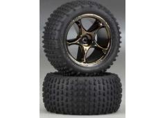 "Traxxas TRX2470A Tires & wheels, assembled (Tracer 2.2"" black ch"