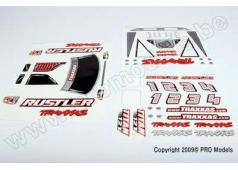 Traxxas TRX-3713X Decal sheet, Rustler