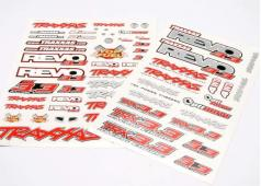 Traxxas TRX-5313X Decal set, Revo 3.3 (Revo logos and graphics d