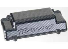Traxxas TRX-5515G Battery Box Cover, bumper (rear), Exo-Carbon f