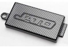 Traxxas TRX-5524G Receiver cover (chassis top plate), Exo-Carbon