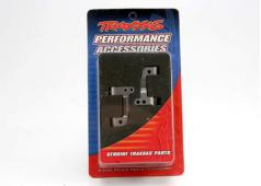 Traxxas TRX-5536X Caster blocks, 25-degree, titanium-anodized 60