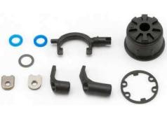 Traxxas TRX5681 Carrier, differential (heavy duty)/ differential fork/ linkage arms (front & rear)/x-ring gaskets (2)/ r
