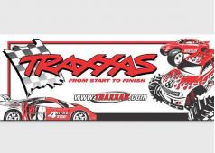Traxxas TRX9909 Traxxas racing banner, red & black (3x7 feet)