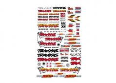 Traxxas TRX9950 Officieel Team Traxxas racing stickerset (vlag l